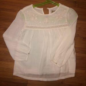 Size 4t white blouse